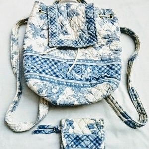 Vera Bradley Backpack Purse Bag with Wallet